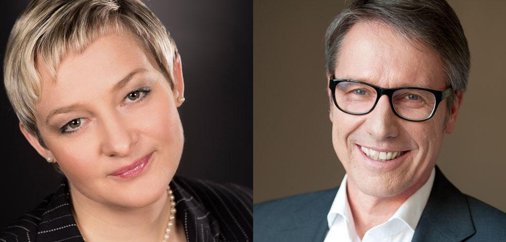 Ihre Experten für bAV: Urte Pieconka und Lorenz W. Scherer